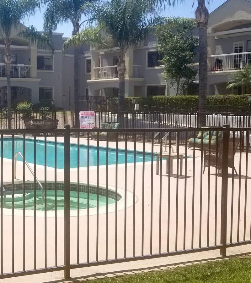 Large resident pool at Pacifica Senior Living Menifee in Sun City, California