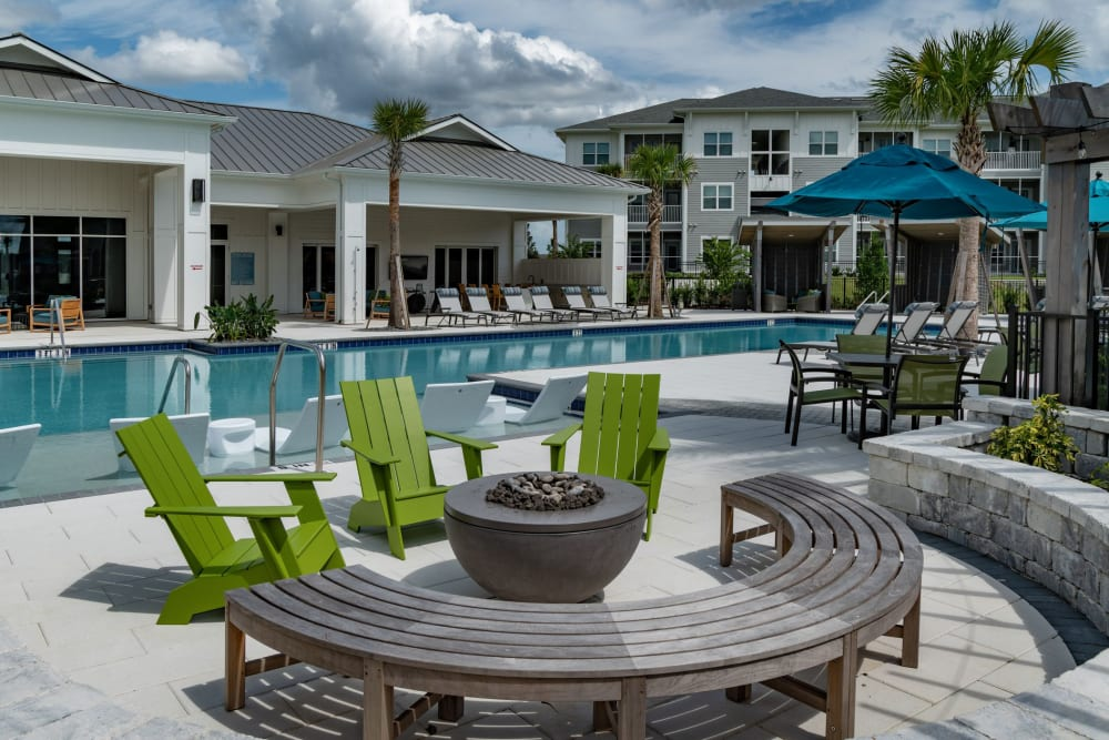 Poolside view at Reunion at 400 in Kissimmee, Florida