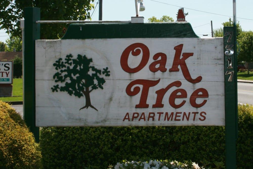 Sign at Oaktree