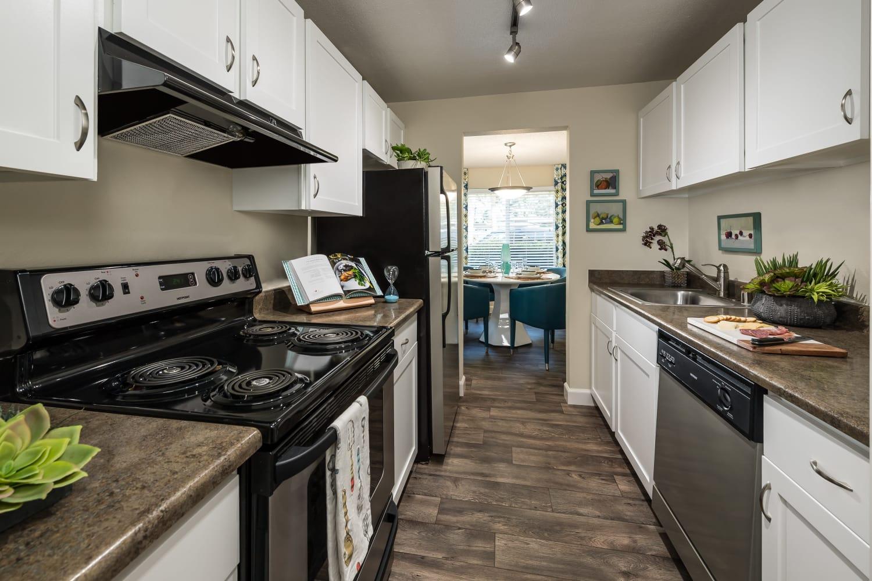 Kitchen at Edgewood Park Apartments in Bellevue, Washington