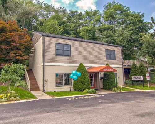 Leasing office at The Cascades Townhomes and Apartments in Pittsburgh