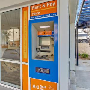 24-hour kiosk at A-1 Self Storage in La Habra, California