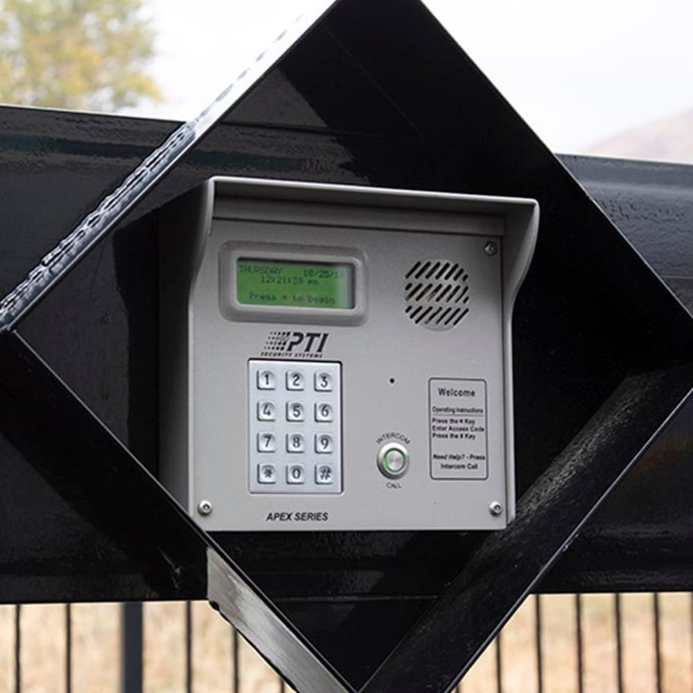 A security keypad at Cubes Self Storage in Kirkland, Washington
