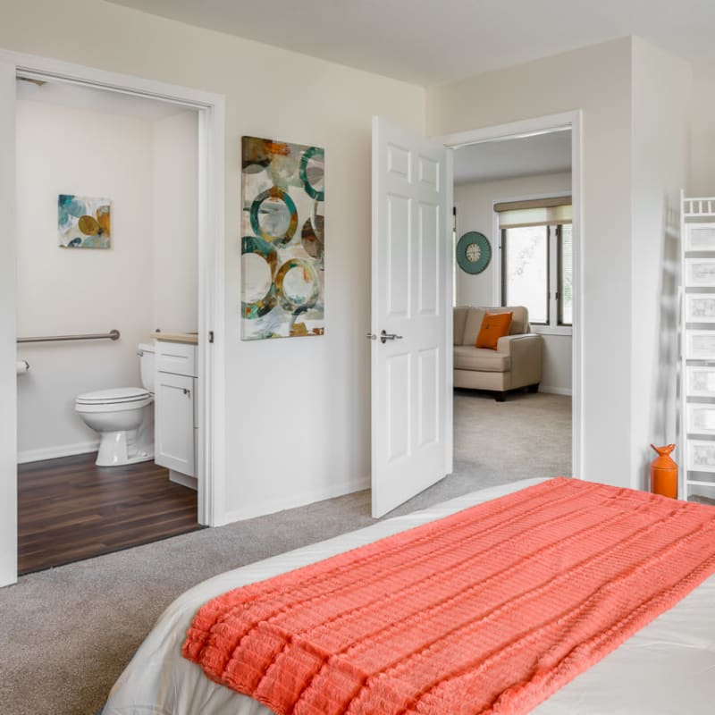 Suite with private bathroom at Ramsey Village Continuing Care in Des Moines, Iowa