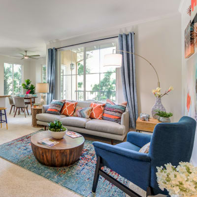 Beautifully decorated interior in a model home at Sofi Shadowridge in Vista, California