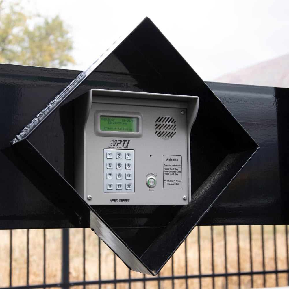 A security keypad at Cubes Self Storage in Millcreek, Utah