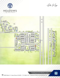 Site map of The Meadows on Balfour in Harper Woods, Michigan