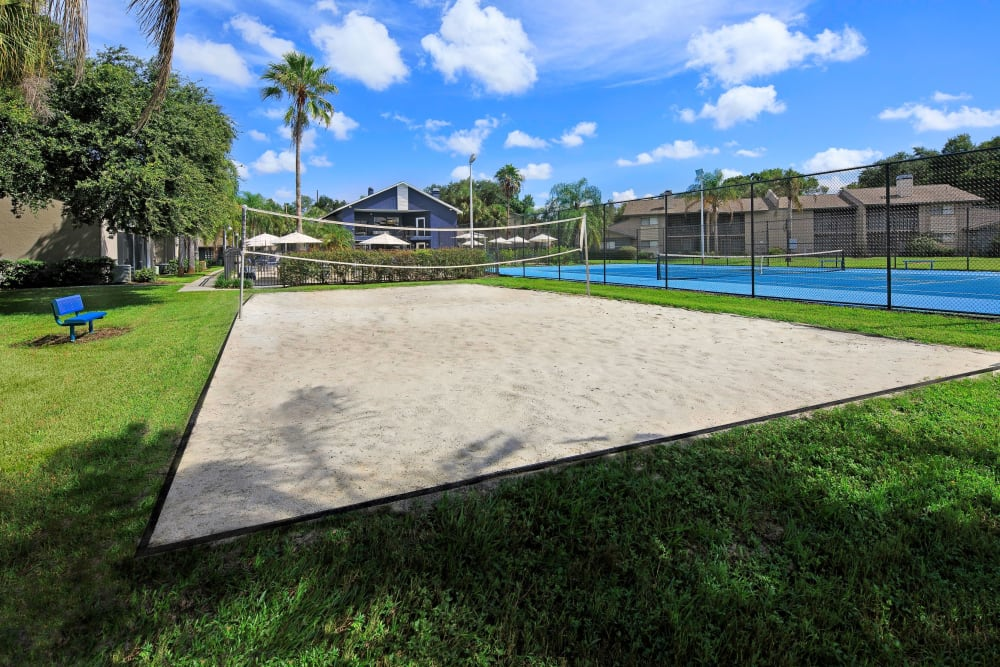 Sand volleyball courts at WestEnd At 76Ten in Tampa, Florida