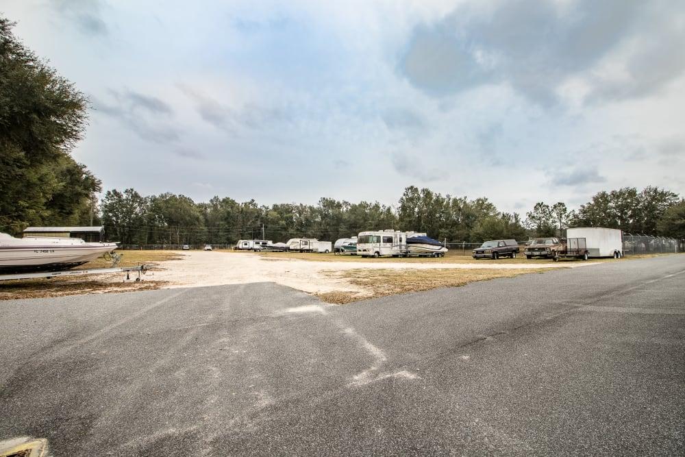 Rv storage at Neighborhood Storage in Belleview, Florida