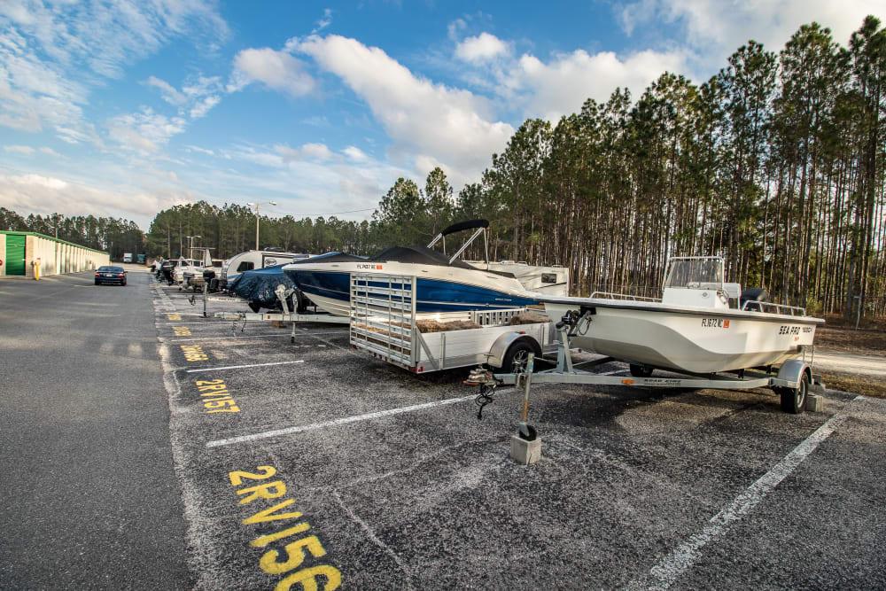 RV and boat storage at Neighborhood Storage in Ocala, FL