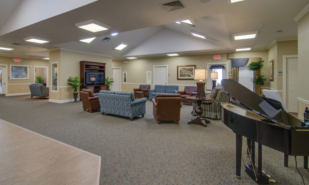 Lobby at Waldron Place Senior Living in Hutchinson, Kansas