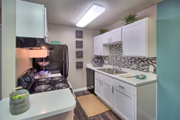 Plenty of space for storage in a model apartment home at Residences at West Mint in Mint Hill, North Carolina