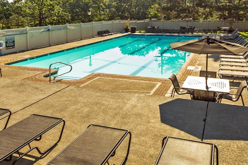 swimming pool at Jefferson Hills Apartments in Framingham, MA