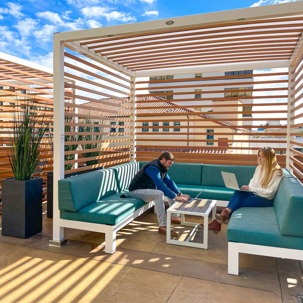 Relaxing amenities at Hillsborough Plaza Apartments in San Mateo, California