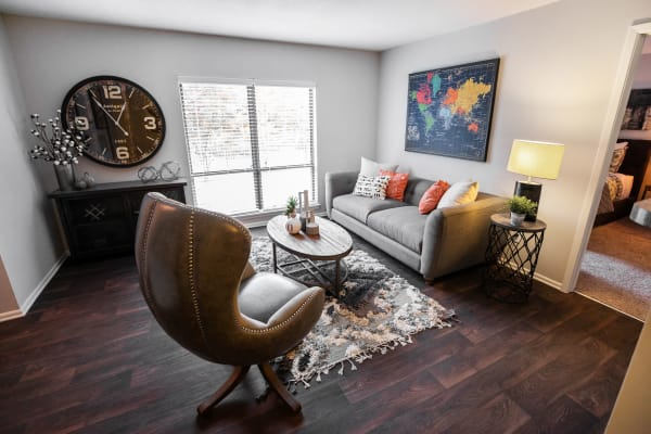 Plenty of space for storage in a model apartment home at The Corners at Crystal Lake in Winston Salem, North Carolina