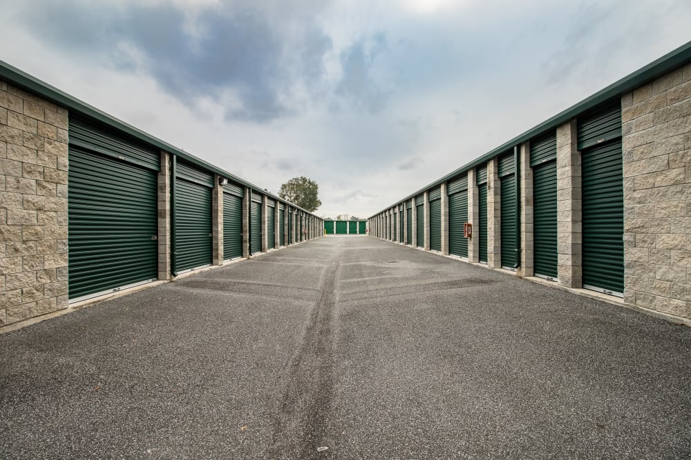 Clean exterior storage units at our self storage facility in Belleview, Florida