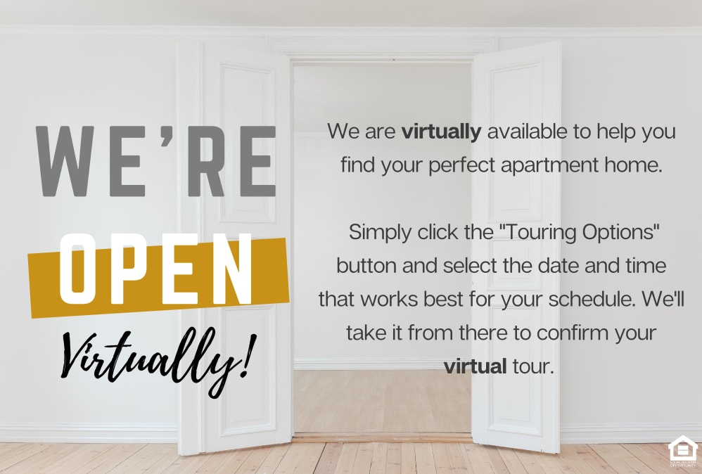 we're open at Villages at Parktown Apartments