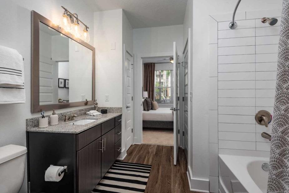 Enjoy apartments with a modern bathroom at The Jaxon