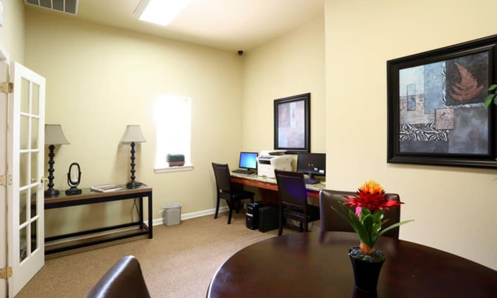 Business center at Champion Lake Apartment Homes in Shreveport, Louisiana