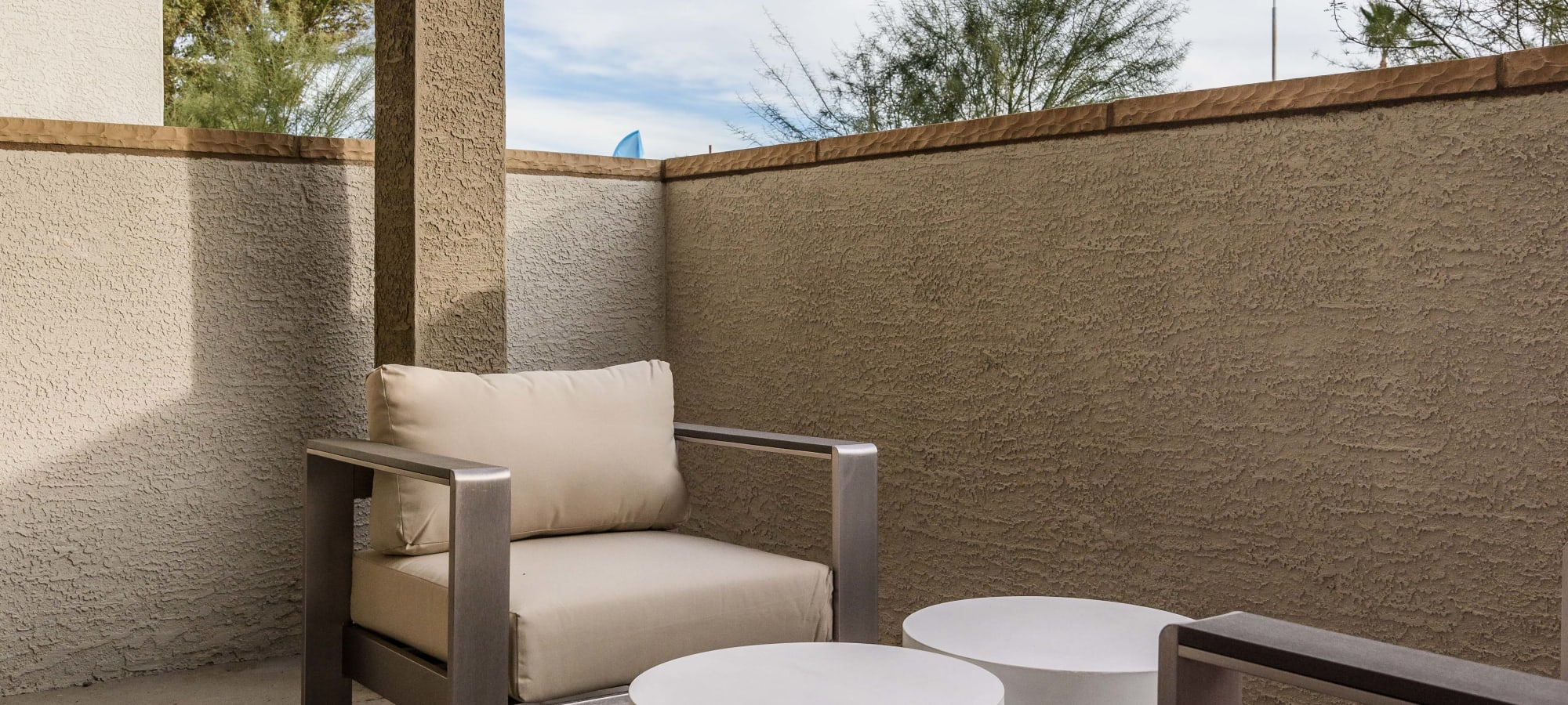 Private terrace at Morrison Chandler in Chandler, Arizona