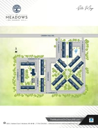Site map of The Meadows on Cherry Hill in Westland, Michigan