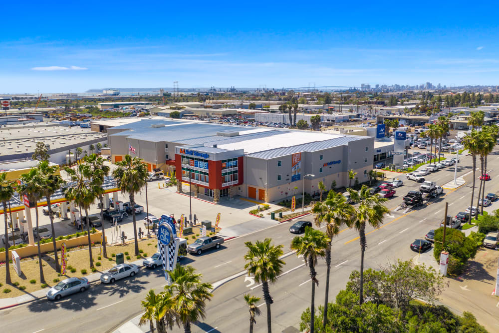 Aerial photo of A-1 Self Storage in National City, California