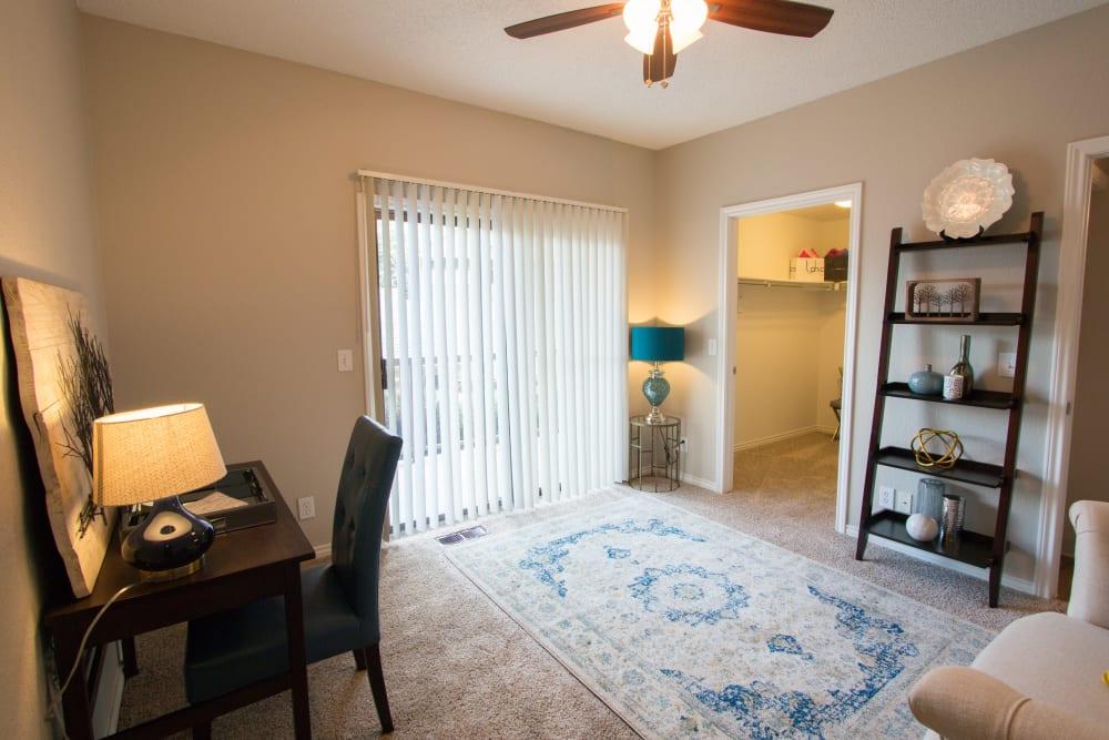 Spacious bedrooms offering the ideal work space at Ashford Belmar in Lakewood, Colorado