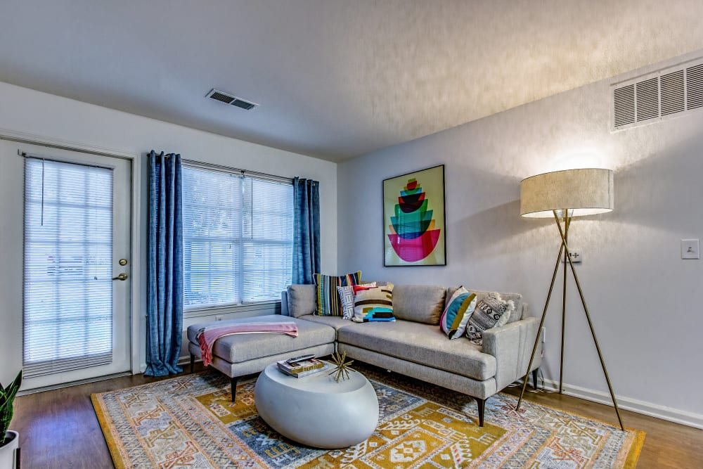 Spacious living room at Eagle Rock Apartments at Freehold in Freehold, New Jersey