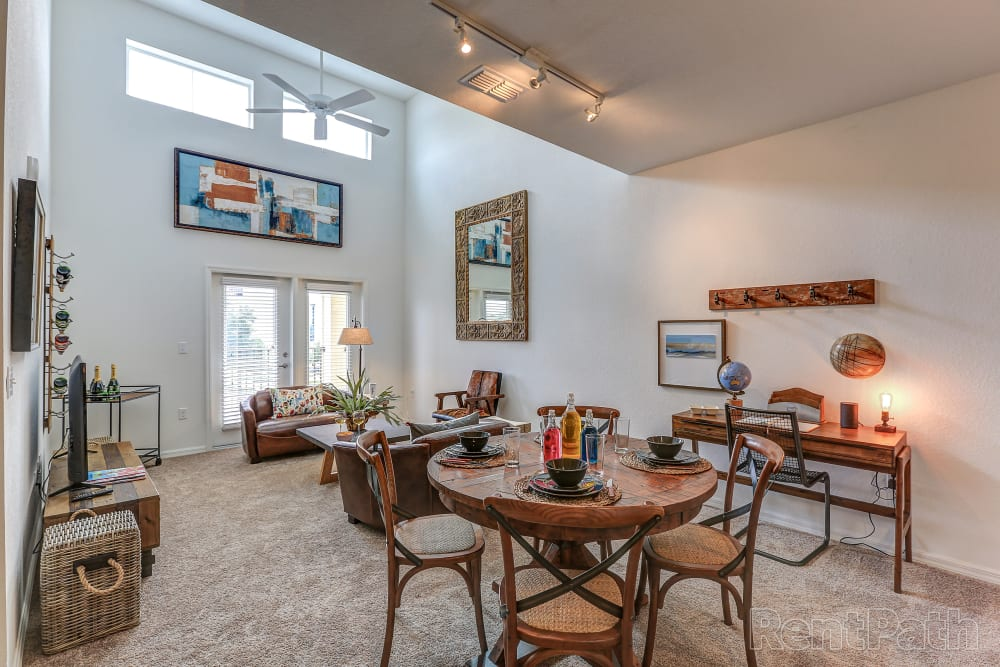 Dining room living space at Lola Apartments in Riverview, FL