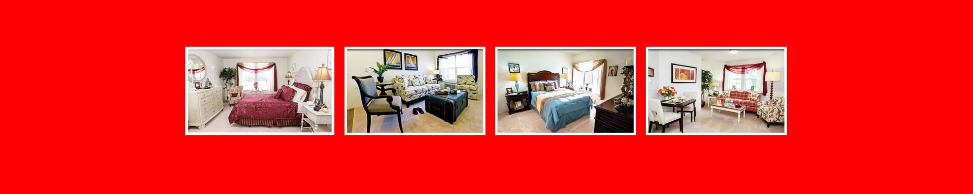 Floor plans at Alexis Estates Gracious Retirement Living in Allen, Texas