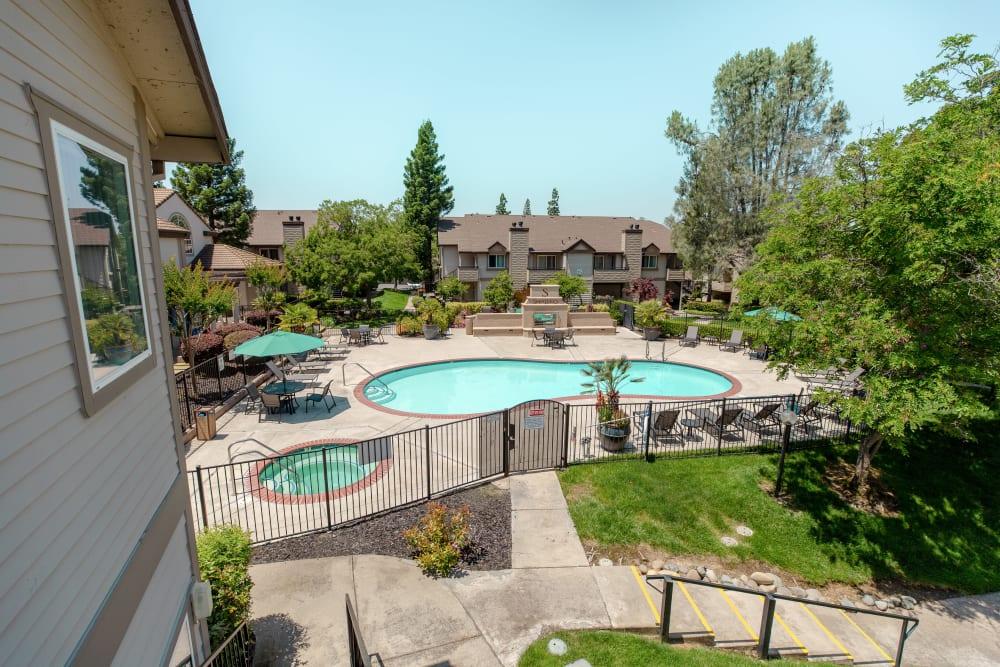 Resort-style swimming pool at Shaliko in Rocklin, California