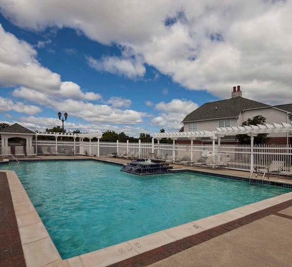 Sparkling swimming pool at Brandywine