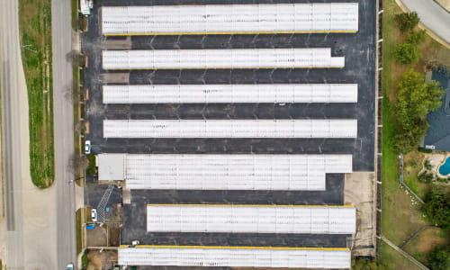 Top view of Storage Units at Huebner Mini-Stor in San Antonio, Texas