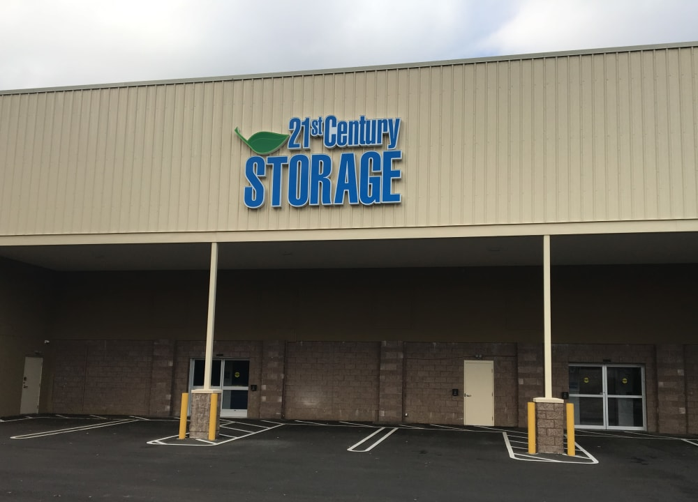 The front entrance at 21st Century Storage in Ocean Township, New Jersey