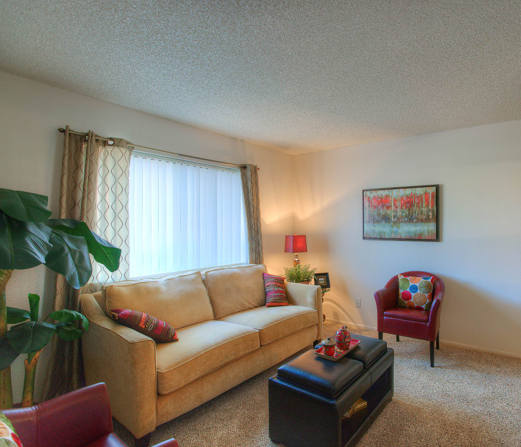 Living room at Argenta Apartment Homes
