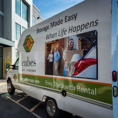 View the free moving truck at Cubes Self Storage in Millcreek, Utah