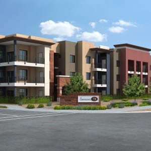Neighborhood at The Crossing at Cooley Station in Gilbert, Arizona