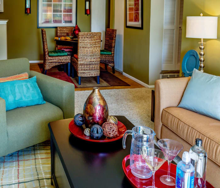 Decorated model home at Montair Apartment Homes in Thornton, CO