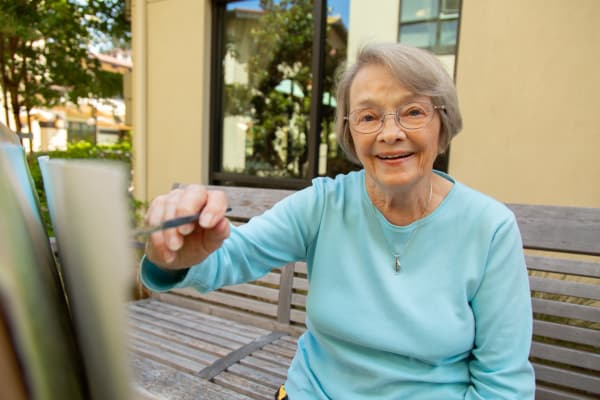 Seniors living a happy life here at Merrill Gardens at Carolina Park
