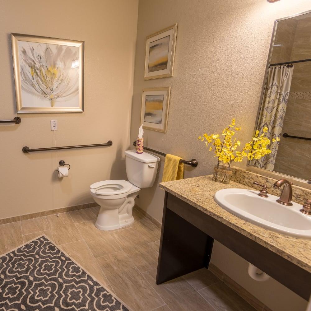 Resident bathroom at Inspired Living Lakewood Ranch in Bradenton, Florida