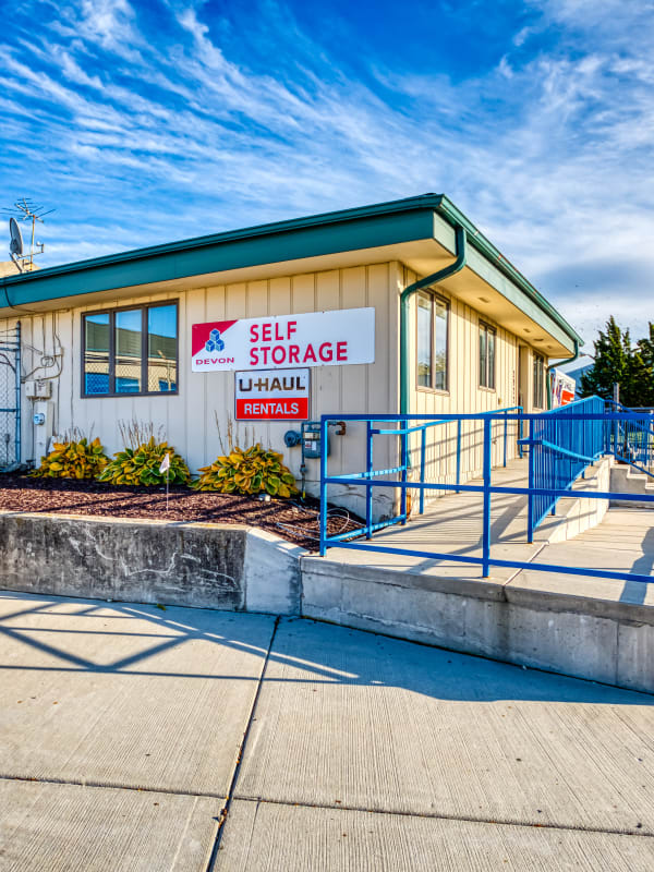 Leasing office at Devon Self Storage in Milwaukee, Wisconsin
