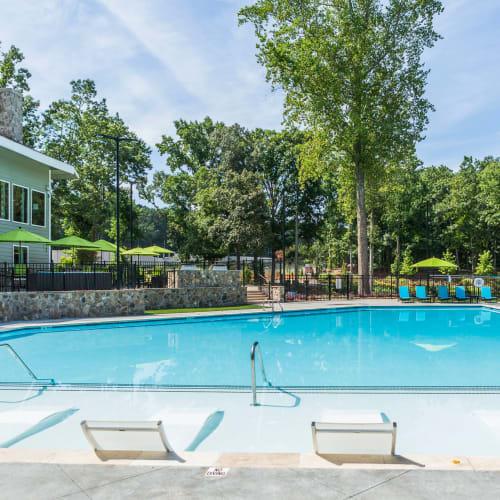Resident saltwater pool at The Overlook Sandy Springs in Atlanta, Georgia