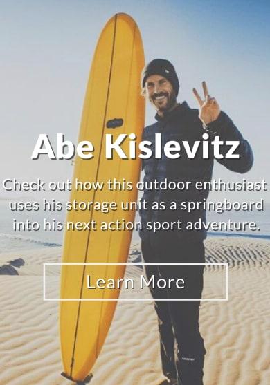 Abe Kislevitz, ambassador for StorQuest Self Storage in Santa Monica, California