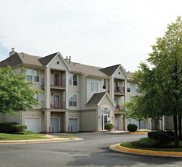 Exterior of The Village at Potomac Falls Apartment Homes in Sterling, Virginia