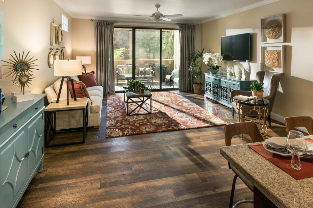 View the floor plans at San Portales in Scottsdale, Arizona