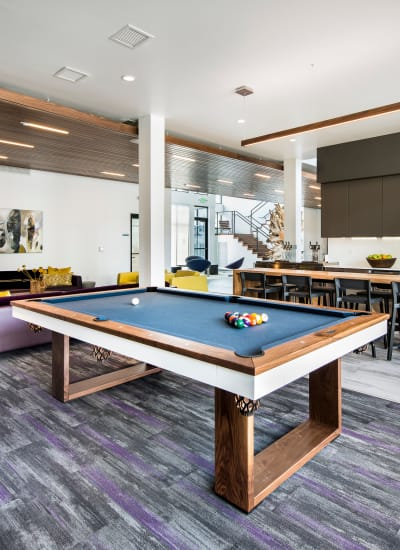 Billiards table at Elevate in Englewood, Colorado