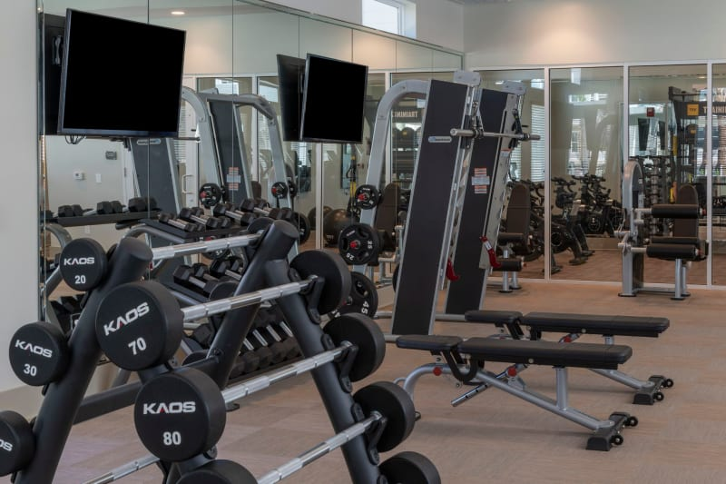Full state of the art fitness area for residents at Reunion at 400 in Kissimmee, Florida
