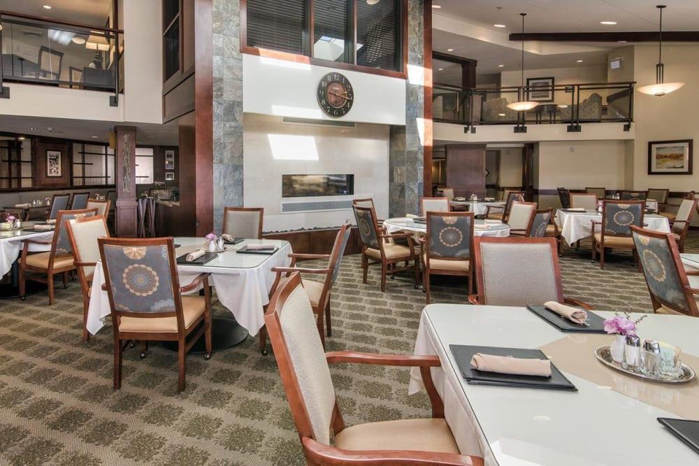 Lavish dinning room area at The Springs at Carman Oaks in Lake Oswego, Oregon
