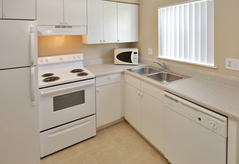Bright kitchen at Stonewood Townhomes in Melbourne, Florida