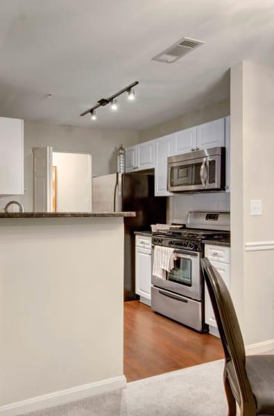 Kitchen island at Ellington Metro West in Westborough, Massachusetts
